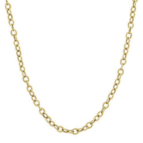 "Made in Italy 14K Yellow Gold 20"" Hollow Rolo Chain Necklace"