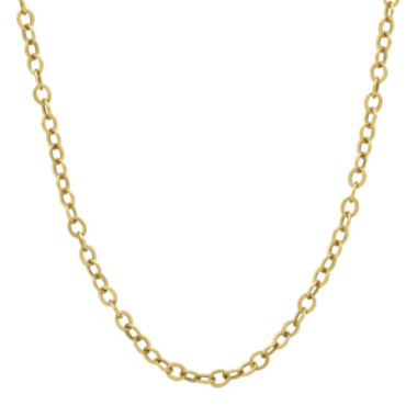 "jcpenney.com | 14K Yellow Gold 18"" Hollow Rolo Chain Necklace"