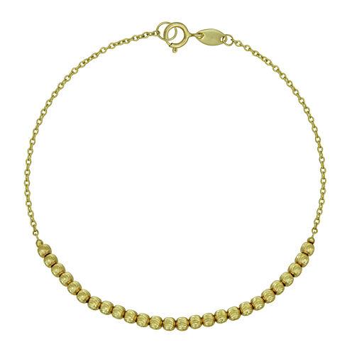14K Yellow Gold Bead Bracelet