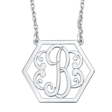 jcpenney.com | Personalized Hexagon Initial Necklace