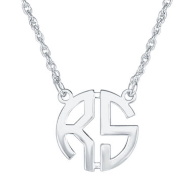 jcpenney.com | Personalized 15mm Block Monogram Necklace