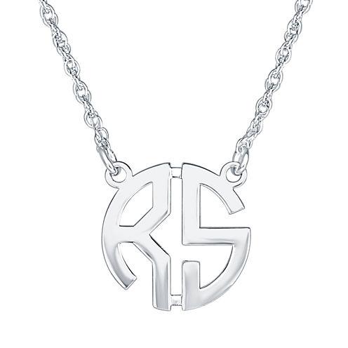 Personalized 15mm Block Monogram Necklace