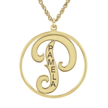 jcpenney.com | Personalized 25mm Initial and Name Circle Pendant Necklace
