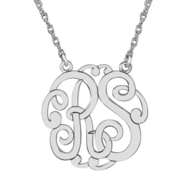 jcpenney.com | Personalized 25mm Monogram Necklace