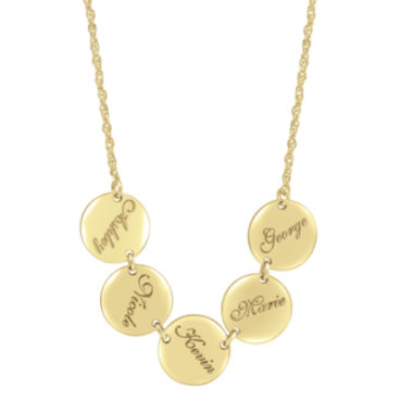 jcpenney.com | Personalized Disk Family Necklace