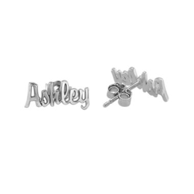 jcpenney.com | Personalized Name Script Earrings