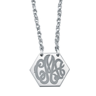 jcpenney.com | Personalized Hexagon Monogram Necklace