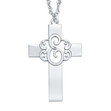 jcpenney.com | Personalized Monogram Cross Pendant Necklace