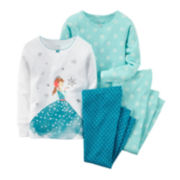 Carter's® 4-pc. Ice Princess Pajama Set - Baby Girls 6m-24m
