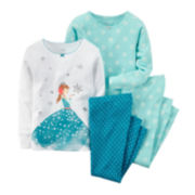 Carter's® 4-pc. Ice Princess Pajama Set - Toddler Girls 2t-5t