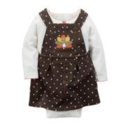 Carter's® Thanksgiving 2-pc Jumper Set - Baby Girls newborn-24m