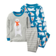 Carter's® 4-pc. Polar Bear Pajama Set - Preschool Boys 4-7