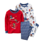 Carter's® 4-pc. Skiing Monkey Pajama Set - Preschool Boys 4-8