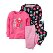 Carter's® 4-pc. Hot Cocoa Pajama Set - Preschool Girls 4-8