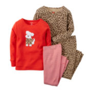 Carter's® 4-pc. Animal-Print Pajama Set - Preschool Girls 4-8