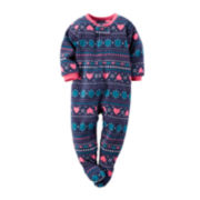 Carter's® Fleece Fair Isle Footed Pajamas - Toddler Girls 2t-5t