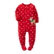 Carter's® Fleece Reindeer Pajamas - Baby Girls 12m-24m