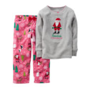 Carter's® Santa's Favorite Pajamas - Baby Girls 12m-24m