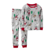 Carter's® Gray Santa Pajamas - Toddler Boys 2t-5t