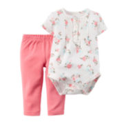 Carter's® Floral Bodysuit and Pants - Baby Girls newborn-24m