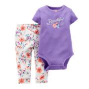 Carter's® Bodysuit and Pants - Baby Girls newborn-24m