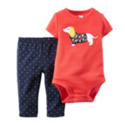 Carter's® Dog Bodysuit and Pants - Baby Girls newborn-24m