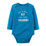 Carter's® Long-Sleeve Grandma Bodysuit - Baby Boys newborn-24m