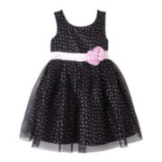 Pinky Dot Print Dress - Preschool Girls 4-6x
