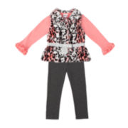 Little Lass Vest, Top and Leggings - Preschool Girls 4-6x