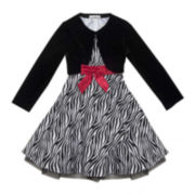 Rare Editions Dress and Cardigan - Girls 7-16