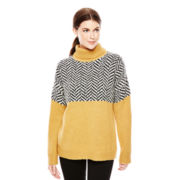 Joe Fresh™ Long-Sleeve Print Turtleneck Sweater
