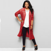 a.n.a® Textured Sweater Duster- Plus