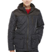 IZOD® Diamond-Quilted Puffer Jacket with Hood