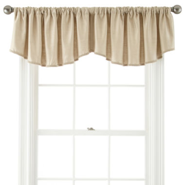 jcpenney.com | Royal Velvet® Supreme Rod-Pocket Rounded Ascot Valance