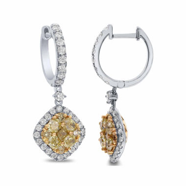 jcpenney.com | LIMITED QUANTITIES! 2 1/2 CT. T.W. Color-Enhanced Yellow Diamond 18K Gold Drop Earrings