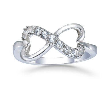 jcpenney.com | Womens White Sapphire Sterling Silver Delicate Ring
