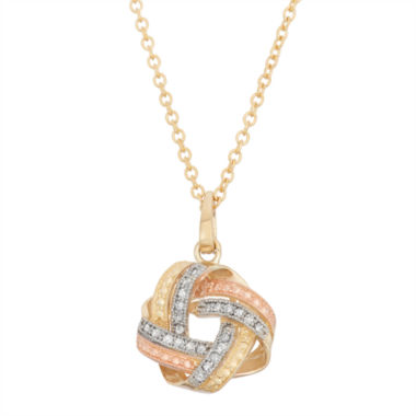 jcpenney.com | Womens 1/8 CT. T.W. White Diamond 10K Gold Pendant Necklace