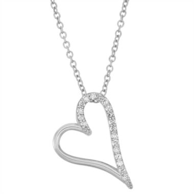 jcpenney.com | Womens 1/7 CT. T.W. White Diamond 10K Gold Pendant Necklace