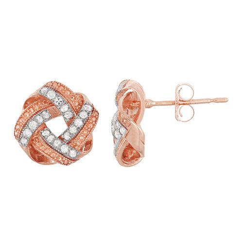 1/5 CT. T.W. Round White Diamond 10K Gold Stud Earrings