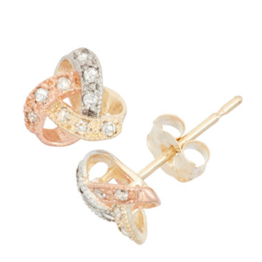 jcpenney.com | 1/10 CT. T.W. Round White Diamond 10K Gold Stud Earrings