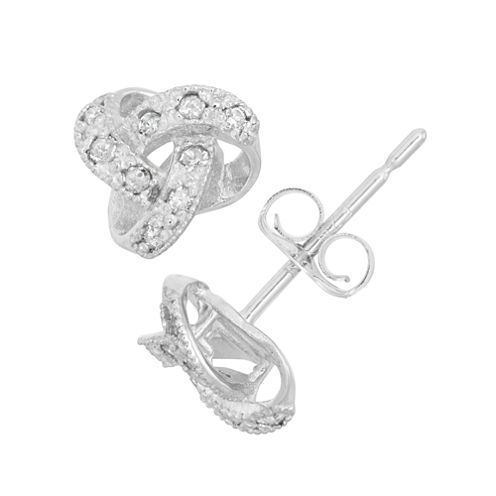 1/10 CT. T.W. Round White Diamond 10K Gold Stud Earrings