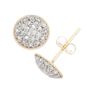 jcpenney.com | 1/4 CT. T.W. Round White Diamond 10K Gold Stud Earrings