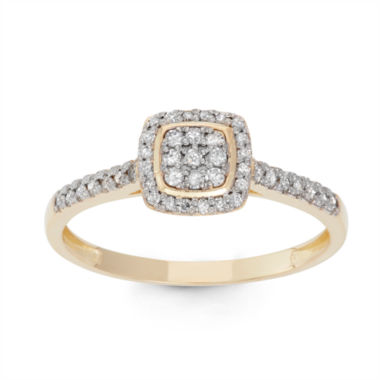 jcpenney.com | Womens 1/4 CT. T.W. White Diamond 10K Gold Cocktail Ring