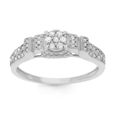 jcpenney.com | Womens 1/3 CT. T.W. White Diamond 10K Gold Cocktail Ring