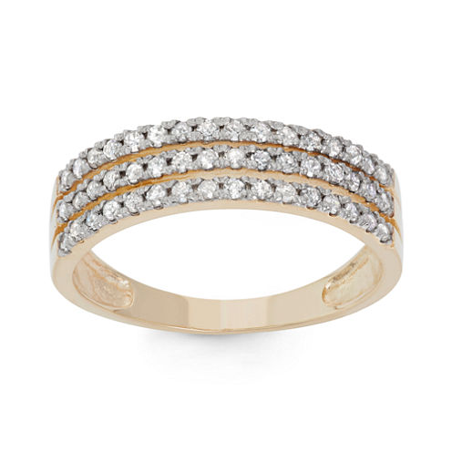 Womens 1/2 CT. T.W. White Diamond 10K Gold Band