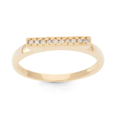 jcpenney.com | Womens 1/10 CT. T.W. White Diamond 10K Gold Band