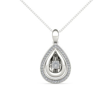 jcpenney.com | Love in Motion 1/5 CT. T.W. White Diamond Round Pendant