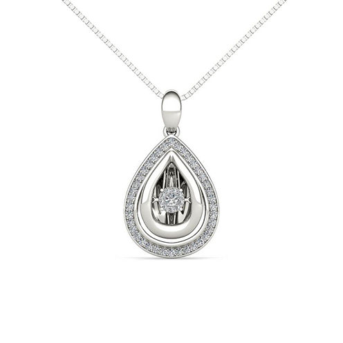 Love in Motion 1/5 CT. T.W. White Diamond Round Pendant