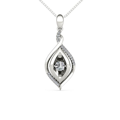 Love in Motion 1/4 CT. T.W. White Diamond Round Pendant