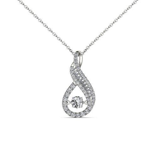 Love in Motion 1/2 CT. T.W. White Diamond Round 10K Gold Pendant